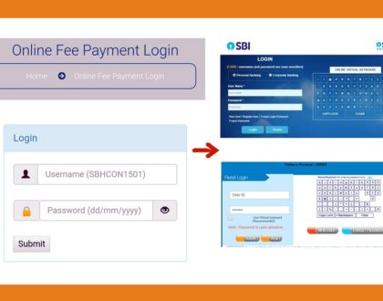 Steps for Online Fee Payment Through Internet Banking