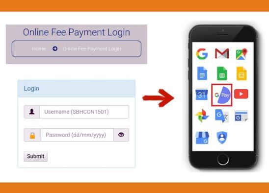 Fee Payment through UPI – Google Pay app
