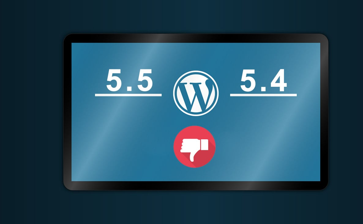 Downgrade WordPress 5.5 to 5.4.2 Manually